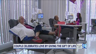 Couple celebrates love by giving gift of life