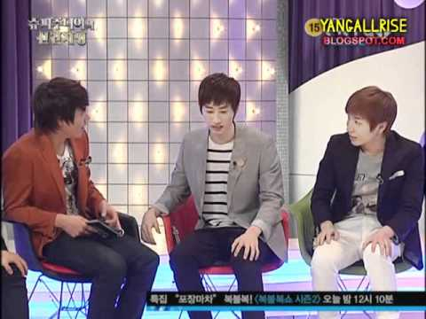 110223 Eunhyuk & Yesung's Reaction