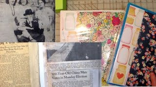 How to preserve old newspaper clippings scrapbook idea