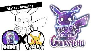 [Fortnite X Pokemon] Galaxy Skin + Pikachu | Mashup Drawing