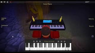 Canon Rock de: Pachelbel en un piano ROBLOX.
