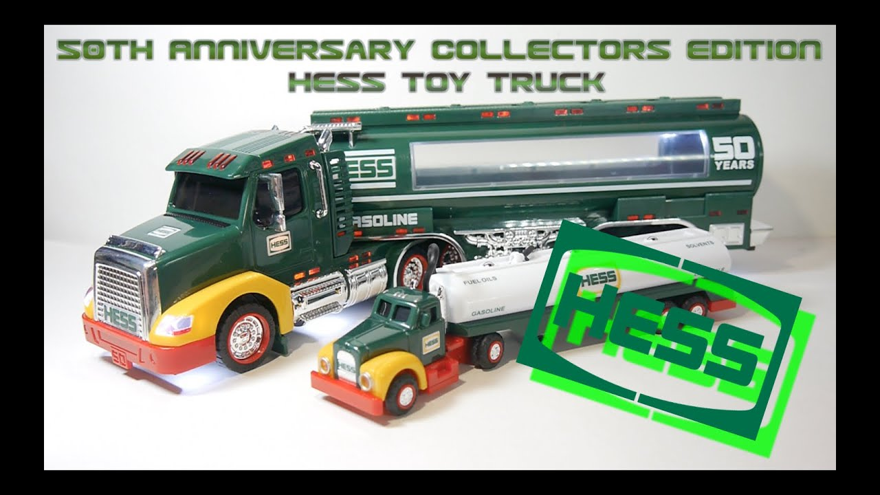 2014 50th anniversary collectors edition hess toy truck video review youtube