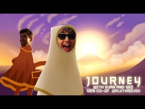 Journey - 2 Player Co-op - 100% Walkthrough - Commentary