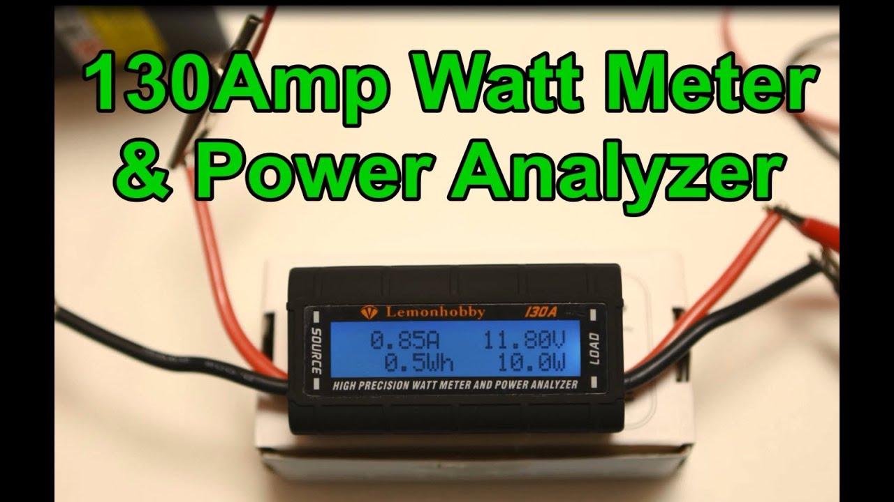 130amp Dc Watt Meter And Power Analyzer Eye On Stuff
