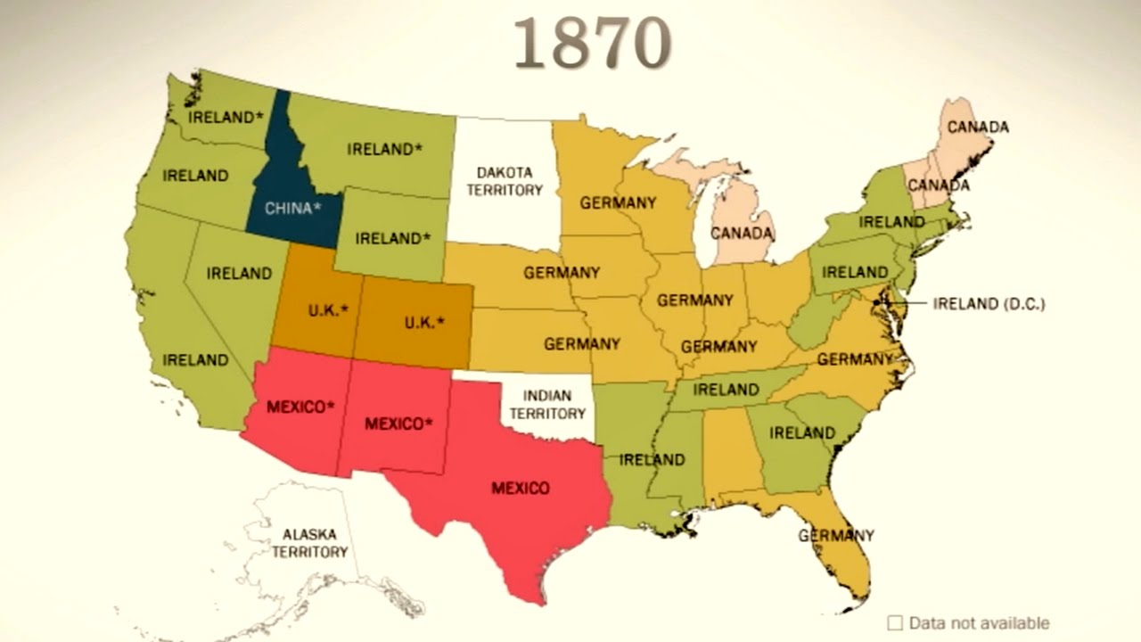 Americas Sources Of Immigration Today YouTube - Animated map of immigrants to us