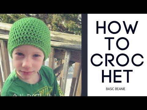 How To Crochet Basic Beanie