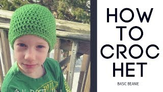 diy fast and easy double crochet beanie hat