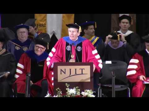 NJIT Commencement 2018 for CSLA, CoAD, MTSoM, and YWCC Masters Degrees