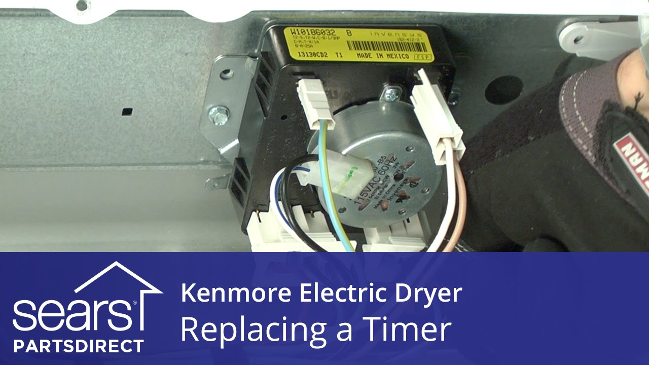 how to replace a kenmore electric dryer timer [ 1280 x 720 Pixel ]
