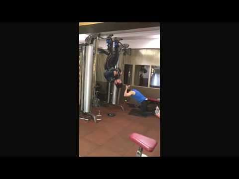Ravi Seth's Vlog 799 Gravity Boots Reverse Hanging Crunch with 25 pounds