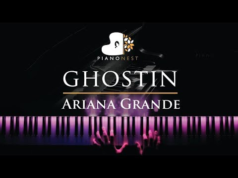 Ariana Grande - ghostin - Piano Karaoke  Sing Along Cover with