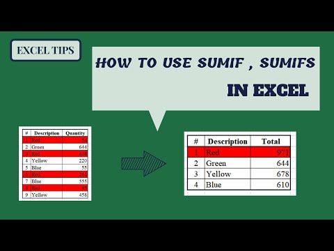 How Use SUMIF & SUMIFS in Excel  |  SUMIF in Excel thumbnail
