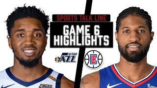Jazz Vs Clippers  HIGHLIGHTS Full Game   | NBA Playoffs Game 6