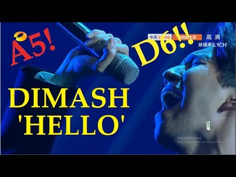 DIMASH Slay Low & High Notes in 'Hello' I am a Singer 2018 (A5 D6)