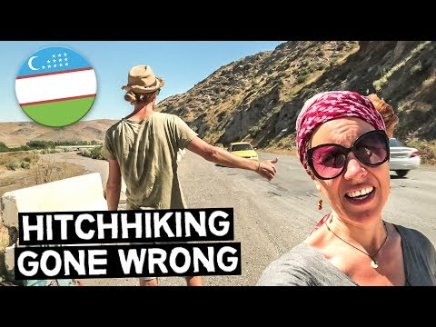 HITCHHIKING FAIL IN UZBEKISTAN | HE WANTED MONEY | Full-time Travel Vlog