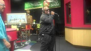 Cee Lo Green Performs While Visiting The Red Velvet Cake Studio.