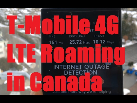 "T-Mobile ""Mobile without Borders"" Canada Speed Test 25Mbps! (Bell 4G LTE Network)"
