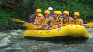 youth rafting trip on pigeon river