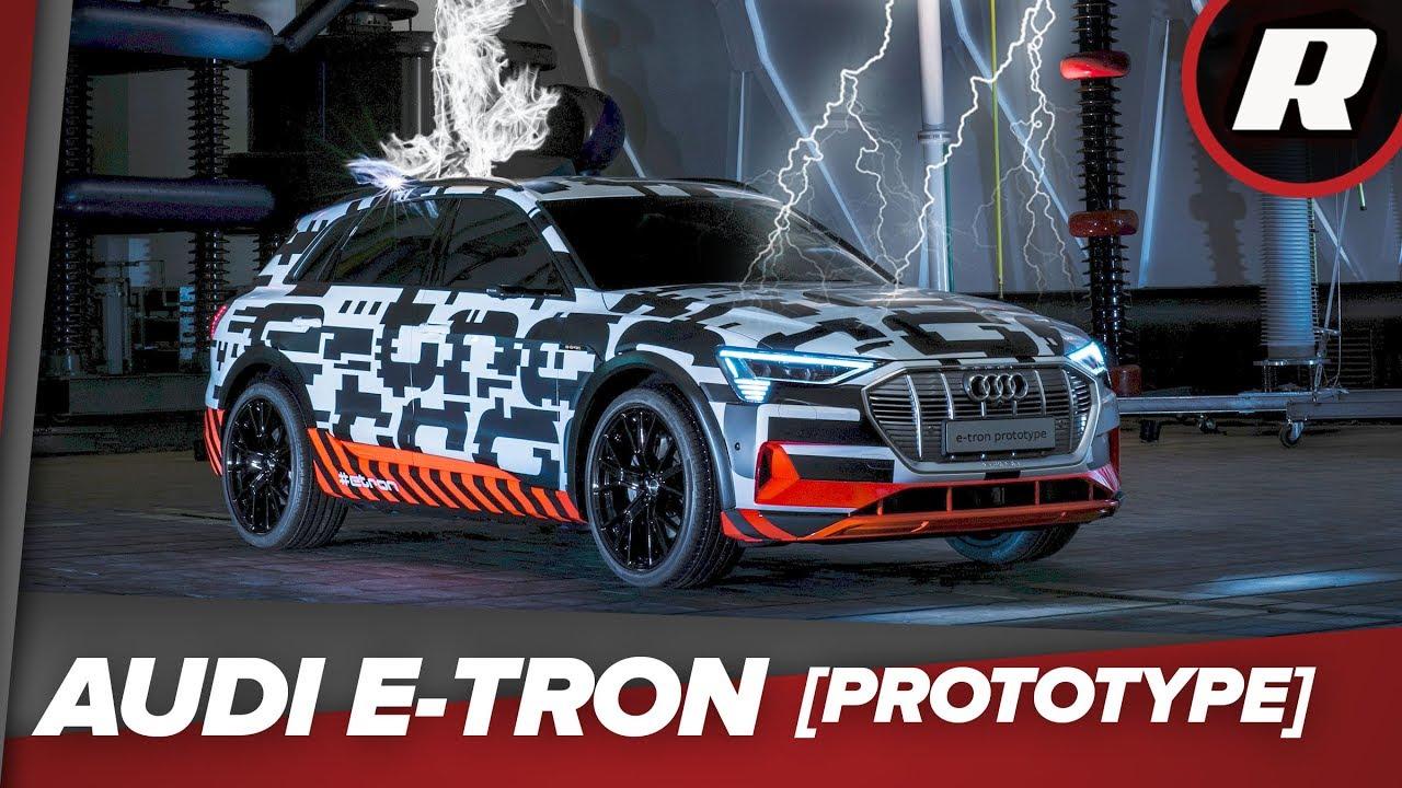 Lightning strikes the Audi E-Tron prototype in Germany