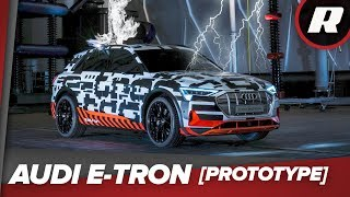 Lightning strikes the Audi E-Tron prototype in Germany