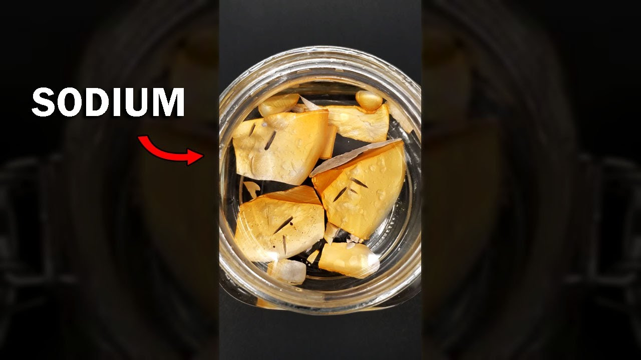 Sodium metal is soft and squishy