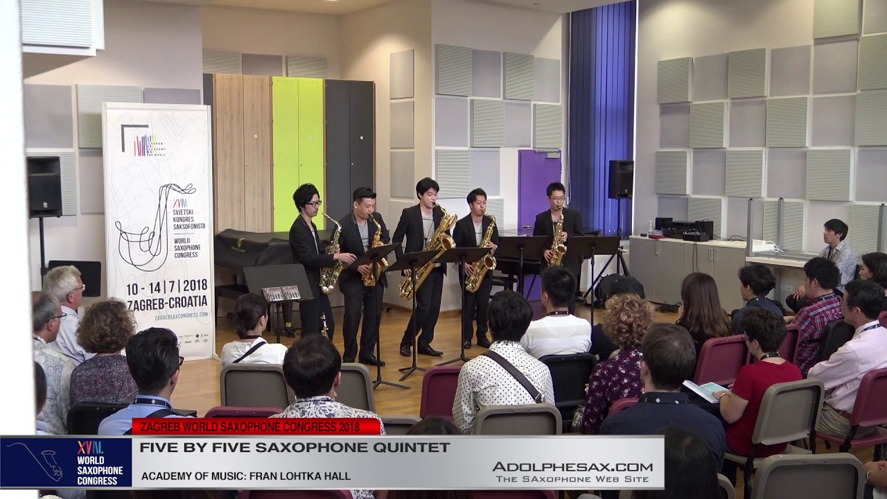 2 Pag 129   Five by Five Saxophone Quintet   XVIII World Sax Congress 2018 #adolphesax