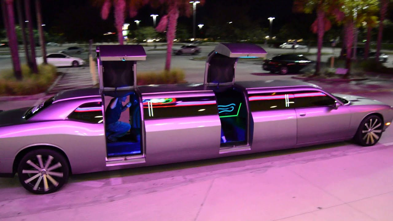 New Dodge Challenger Limo Clean Ride Limo Drive by opeining doors