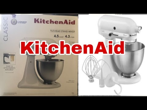 Kitchenaid Classic Stand Mixer Unboxing Review Youtube