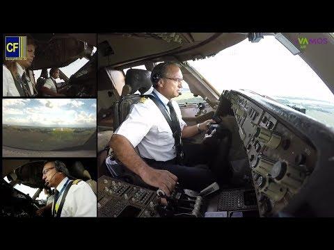 Im 747 Jumbo Cockpit nach Rostock: Kapitn Victoriano fliegt seinen Riesenvogel - Cockpitfilme.de