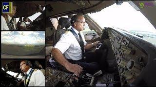 Im 747 Jumbo Cockpit nach Rostock: Kapitän Victoriano fliegt seinen Riesenvogel - Cockpitfilme.de