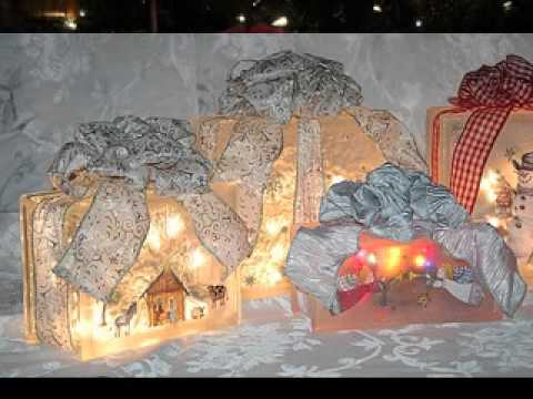 easy glass block christmas decoration - Glass Block Christmas Decorations