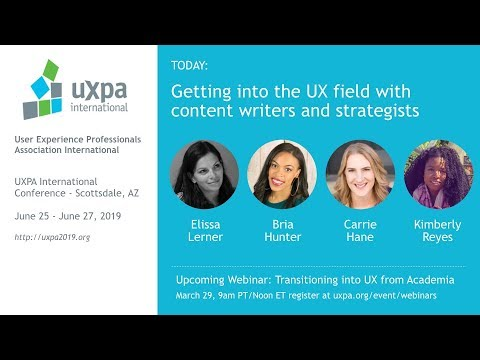 Getting into the UX field with content writers and strategists