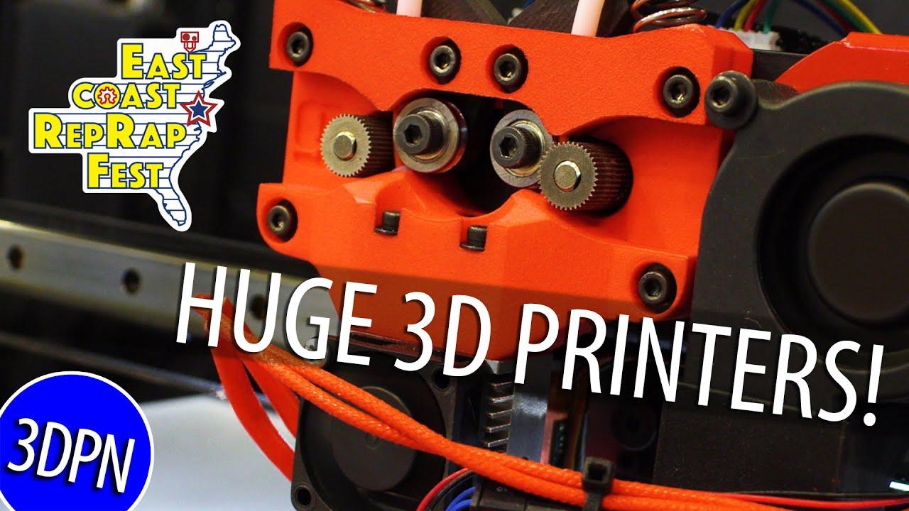 HUGE 3D PRINTERS at East Coast RepRap Festival PART 2