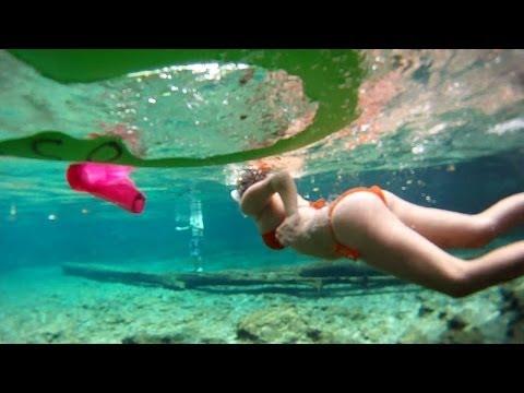 Bikini Free Diving Ginnie Springs - Devils Eye system