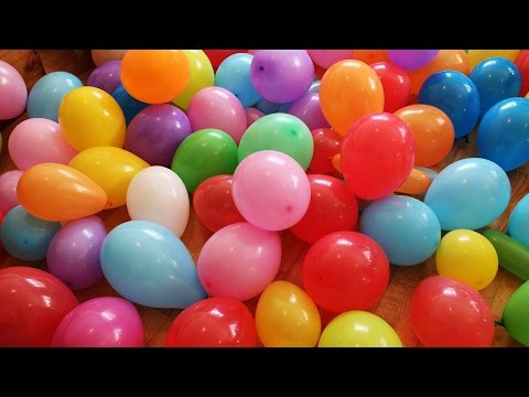 'The Balloon Show' for learning colors -- children's educational video