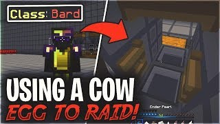 LIVING AS A BARD #1 - USING A COW EGG TO GET IN THEIR BASE! | Minecraft HCF