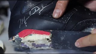 Putting New Soles On Michael Jordan's Infrared 6's That He Won His First Championship In!