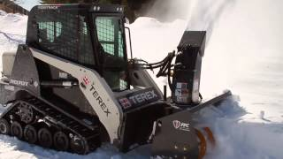 FFC Paladin 11048A Snow Blower demo on Terex R070T Track Loader
