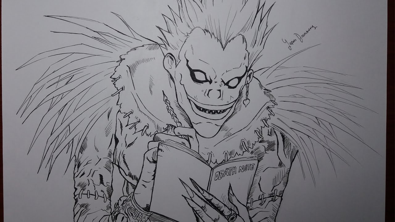 Speed Drawing Ryuk - Death Note - YouTube