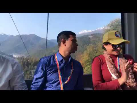 Cable Car with Sumona Shoma at Sochi in Russia