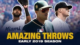 Insane Outfield Throws of early 2019!