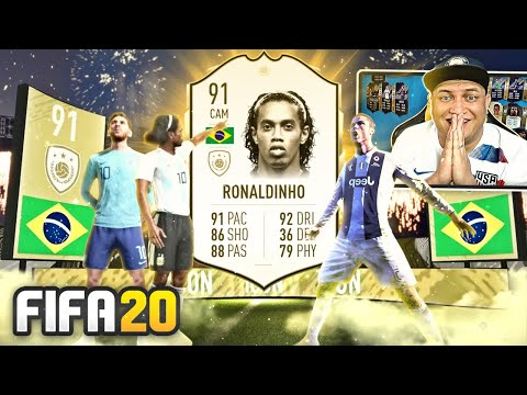 FIFA 20 PACK OPENING 😱 MESSI, RONALDO E RONALDINHO ICON NO PACK