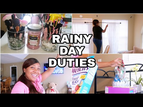 Rainy Day Routine: Strawberry Lemonade Candles, DIY Curtain Installation, Cleaning, Home Decor Ideas
