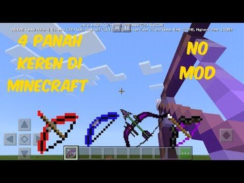 Cara Membuat 4 Panah Super Di Minecraft(No Mod) (no Addon)