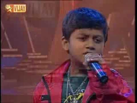 Theeyil Vizhundha Thaena from Varalaaru by Aajeeth on Super Singer Junior 3