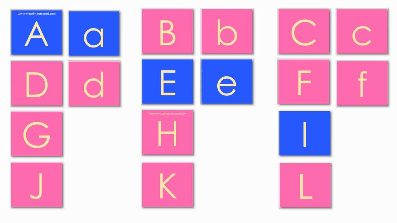 montessori inspired matching uppercase and lowercase letters