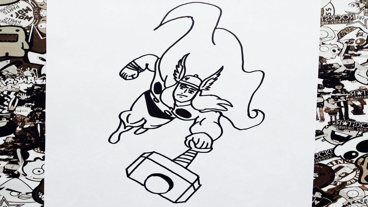 Como Dibujar A Thor How To Draw Thor Como Desenhar O Thor Dos