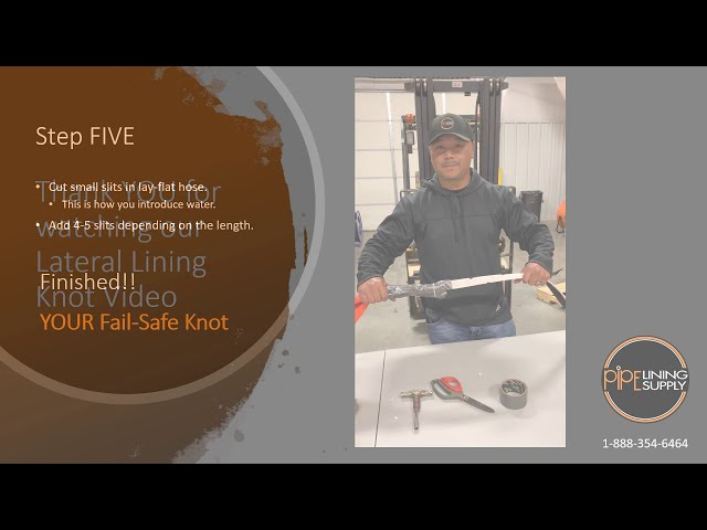 CIPP Lateral Lining Knot for Heat Curing