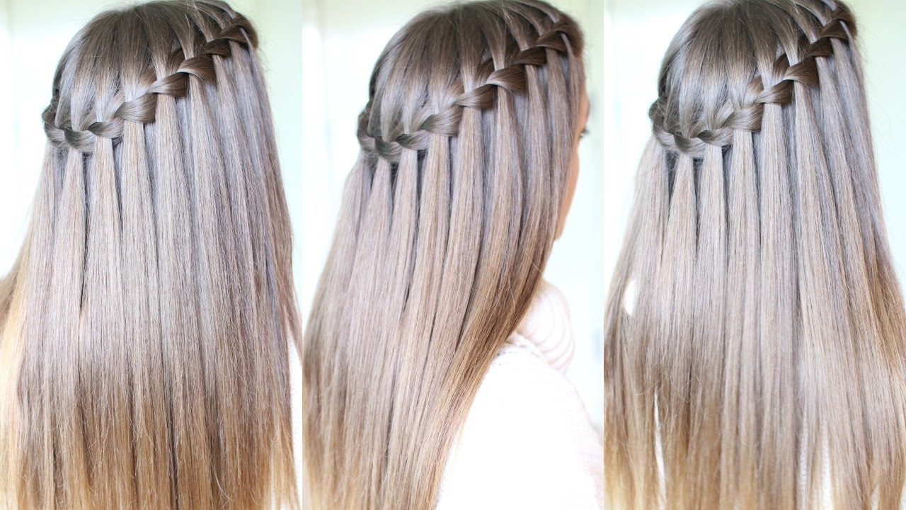 Waterfall Braid Wedding Hair Step By Step | waterfall ...