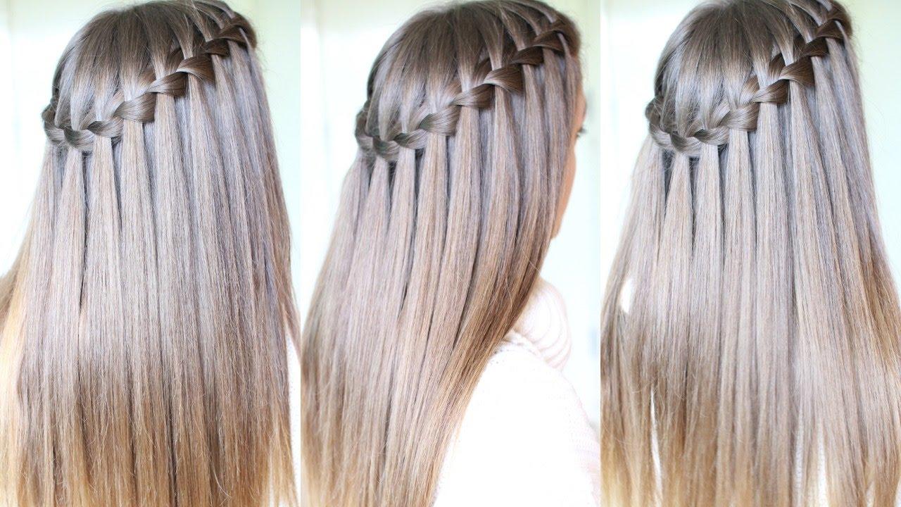 Waterfall Braid Wedding Hair Step By Step